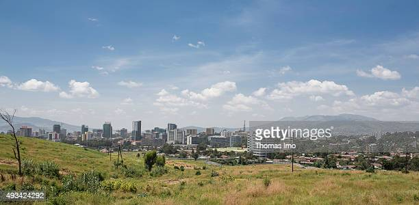 Overview with the city in the background on October 12 2015 in Addis Abeba Ethiopia