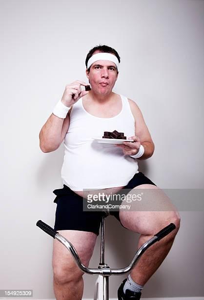 Fat Man Eating Cake Stock Photos and Pictures | Getty Images