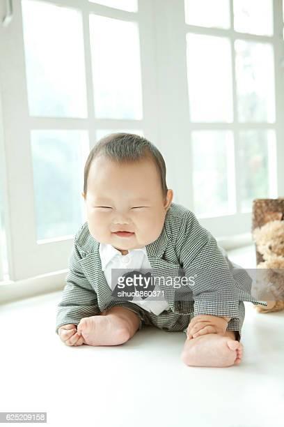 overweight suit tie baby