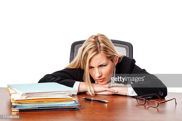 Overwhelmed Businesswoman
