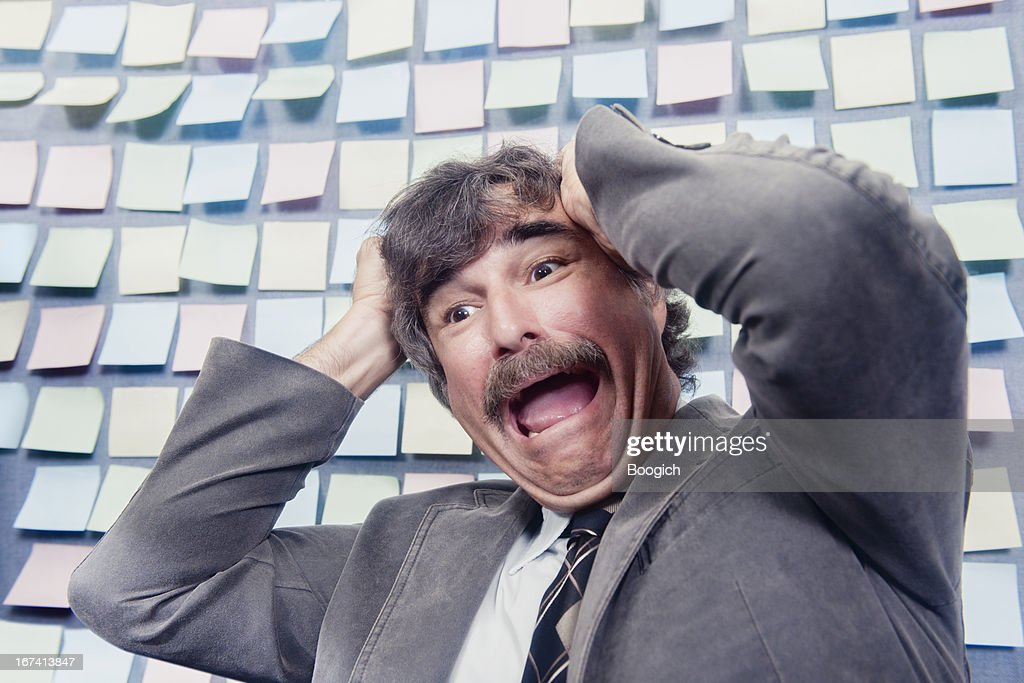 Overwhelmed Mature Office Worker : Stock Photo