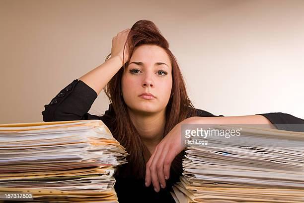 Stressé Employé de bureau