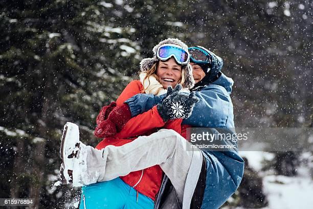 Overwhelming winter hug