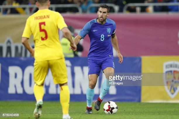 Ovidiu Hoban of Romania Kevin Strootman of Holland during the friendly match between Romania and The Netherlands on November 14 2017 at Arena...