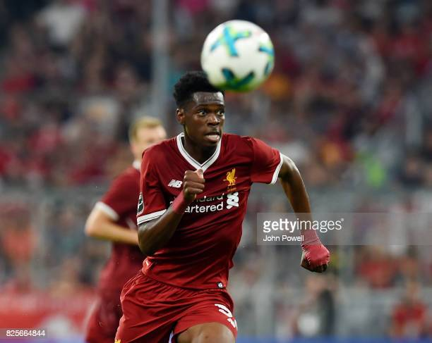 Ovie Ejaria of Liveprool during the Audi Cup 2017 match between Liverpool FC and Atletico Madrid at Allianz Arena on August 2 2017 in Munich Germany