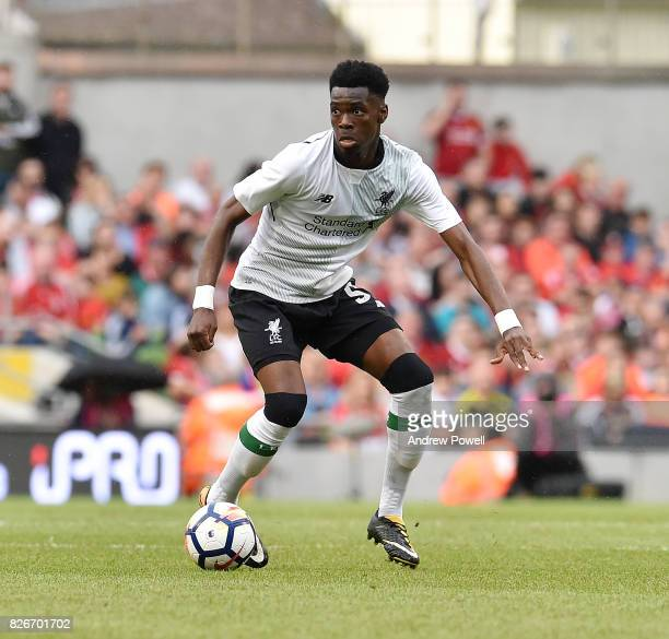 Ovie Ejaria of Liverpool during a pre season friendly match between Liverpool and Athletic Bilbao at Aviva Stadium on August 5 2017 in Dublin Ireland