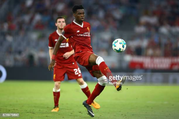 Ovie Ejaria of Liverpool during the Audi Cup 2017 match between Liverpool FC and Atletico Madrid at Allianz Arena on August 2 2017 in Munich Germany