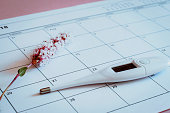 Ovulation Calendar with Flower and thermometer