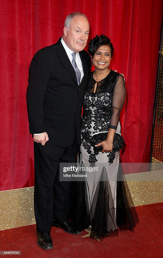 Owen Brenman and Bharti Patel attend the British Soap Awards 2016 at Hackney Empire on May 28, 2016 in London, England.