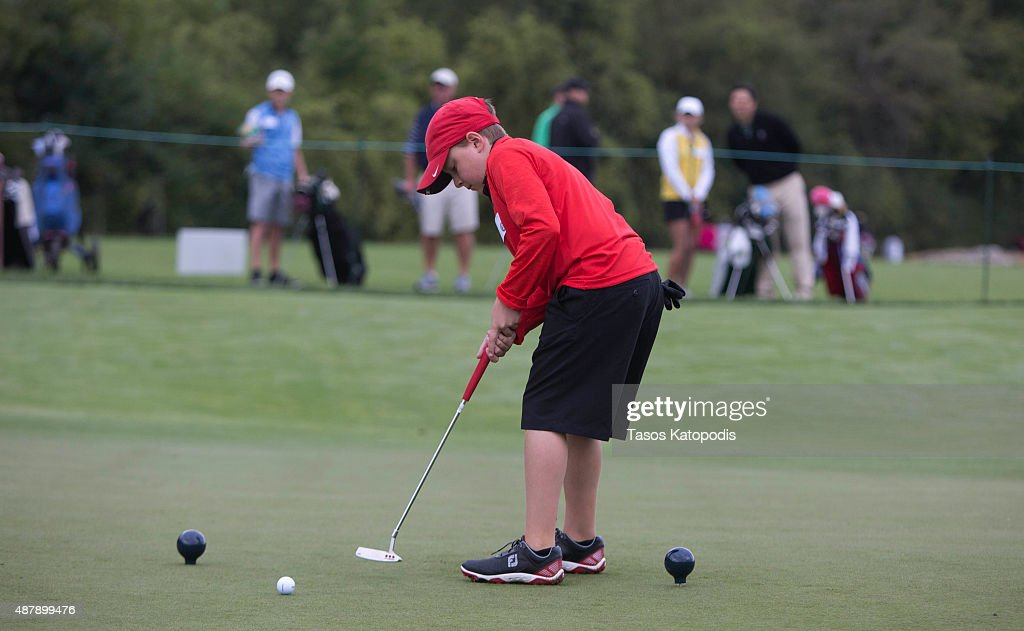 Owen Bright of Roanoke Virginia putts in the boys 1011 Drive Chip and Putt Championship at Valhalla Golf Club on September 12 2015 in Louisville...
