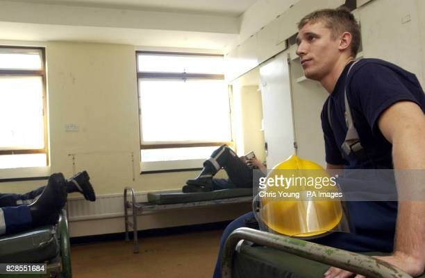 Owen Bundle from HMS Collingwood waits on call with colleagues at the Chelsea Barracks London Last ditch efforts to avert an eight day strike by the...