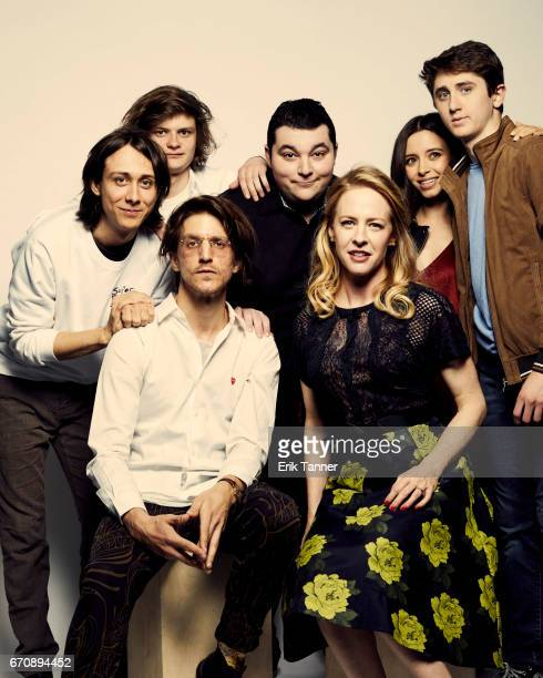 Owen Campbell Charlie Tahan Max Talisman Elizabeth Cappuccino Sawyer Barth Kevin Phillips and Amy Hargreaves from 'Super Dark Times' attend the 2017...