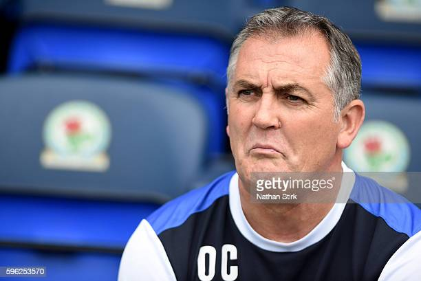 Owen Coyle manager of Blackburn Rovers looks on during the Sky Bet Championship match between Blackburn Rovers and Fulham at Ewood park on August 27...
