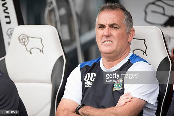Owen Coyle manager of Blackburn Rovers looks on during the Sky Bet Championship match between Derby County and Blackburn Rovers at iPro Stadium on...