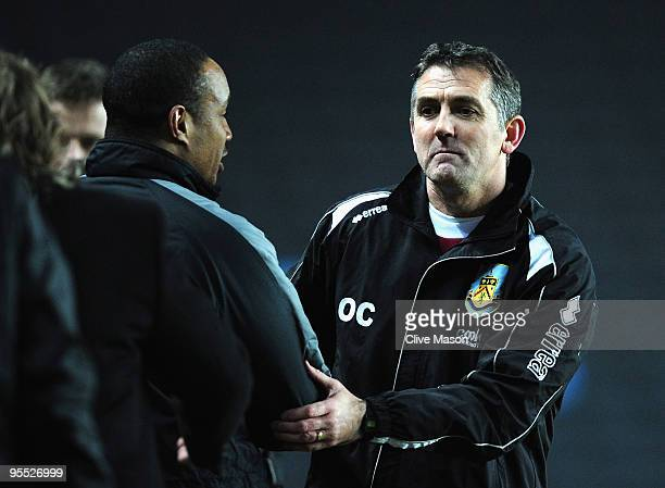 Owen Coyle of Burnley after the final whistle of the FA Cup 3rd Round match between MK Dons and Burnley at Stadiummk on January 2 2010 in Milton...