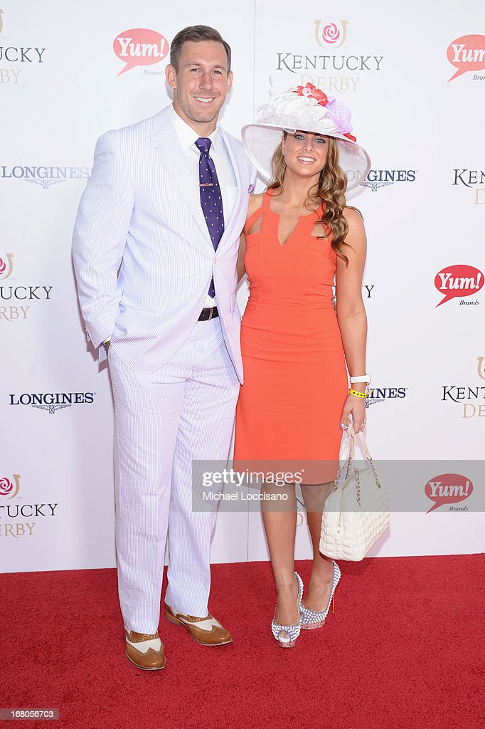 Owen Daniels and guest attend the 139th Kentucky Derby at Churchill Downs on May 4, 2013 in Louisville, Kentucky.
