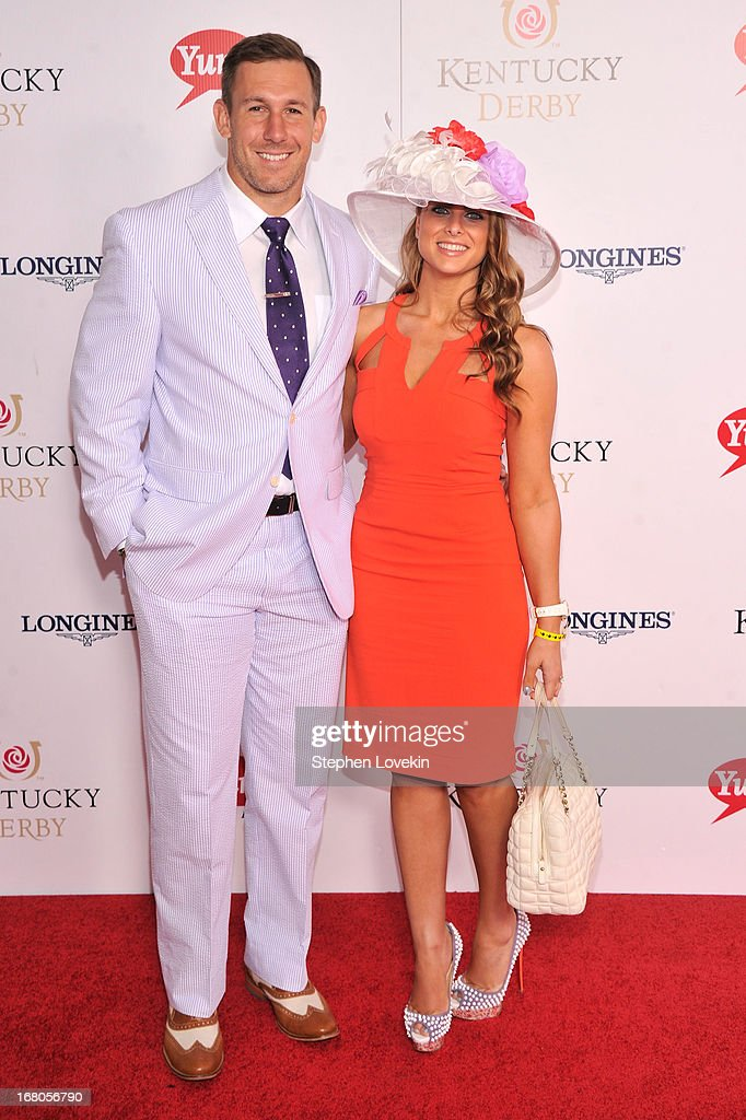Owen Daniels (L) attends the 139th Kentucky Derby at Churchill Downs on May 4, 2013 in Louisville, Kentucky.