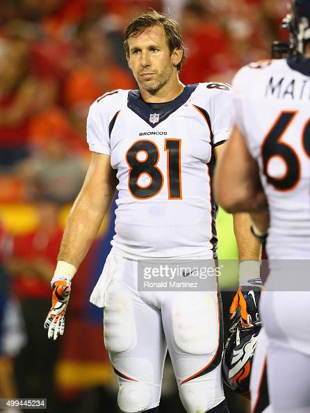 Owen Daniels of the Denver Broncos at Arrowhead Stadium on September 17 2015 in Kansas City Missouri