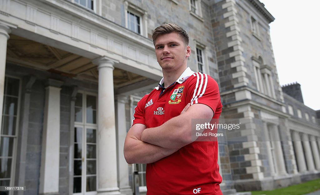 <a gi-track='captionPersonalityLinkClicked' href=/galleries/search?phrase=Owen+Farrell&family=editorial&specificpeople=4809668 ng-click='$event.stopPropagation()'>Owen Farrell</a> poses during the British and Irish Lions media session held at Carton House on May 20, 2013 in Maynooth, Ireland.