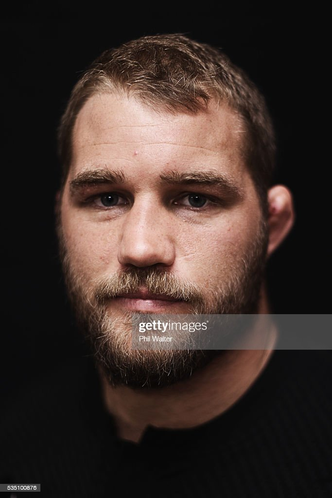Owen Franks of the All Blacks poses for a portrait during a New Zealand All Black portrait session on May 29, 2016 in Auckland, New Zealand.