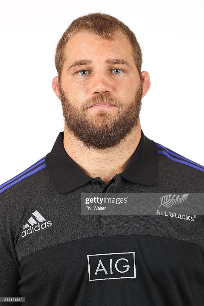 <a gi-track='captionPersonalityLinkClicked' href=/galleries/search?phrase=Owen+Franks+-+Rugby+Player&family=editorial&specificpeople=5509808 ng-click='$event.stopPropagation()'>Owen Franks</a> of the All Blacks poses for a portrait during a New Zealand All Black portrait session on May 29, 2016 in Auckland, New Zealand.