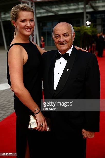 Owen Glenn poses on the red carpet ahead of the Westpac Halberg Awards at Vector Arena on February 13 2014 in Auckland New Zealand