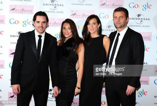 Owen Hargreaves and Tim Sherwood attending the Amy Winehouse Foundation Ball at the Dorchester Hotel in London