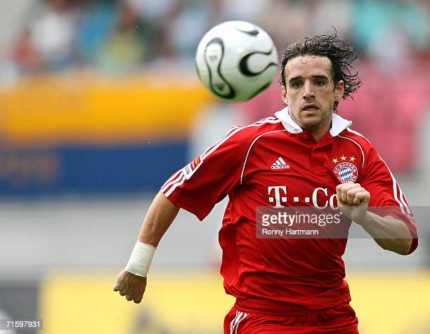 Owen Hargreaves of Bayern Munich in action during the Liga Cup Final between Bayern Munich and Werder Bremen at the Zentral Stadium on August 5 2006...