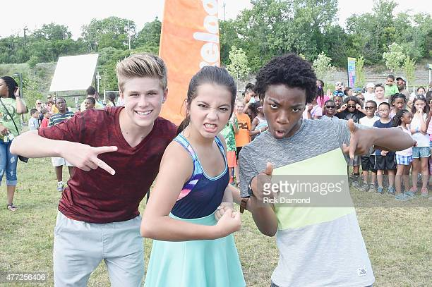 Owen Joyner Isabela Moner and Jaheem Toombs attend Nickelodeon's '100 Things To Do Before High School' And The Nashville Predators Defenseman Seth...