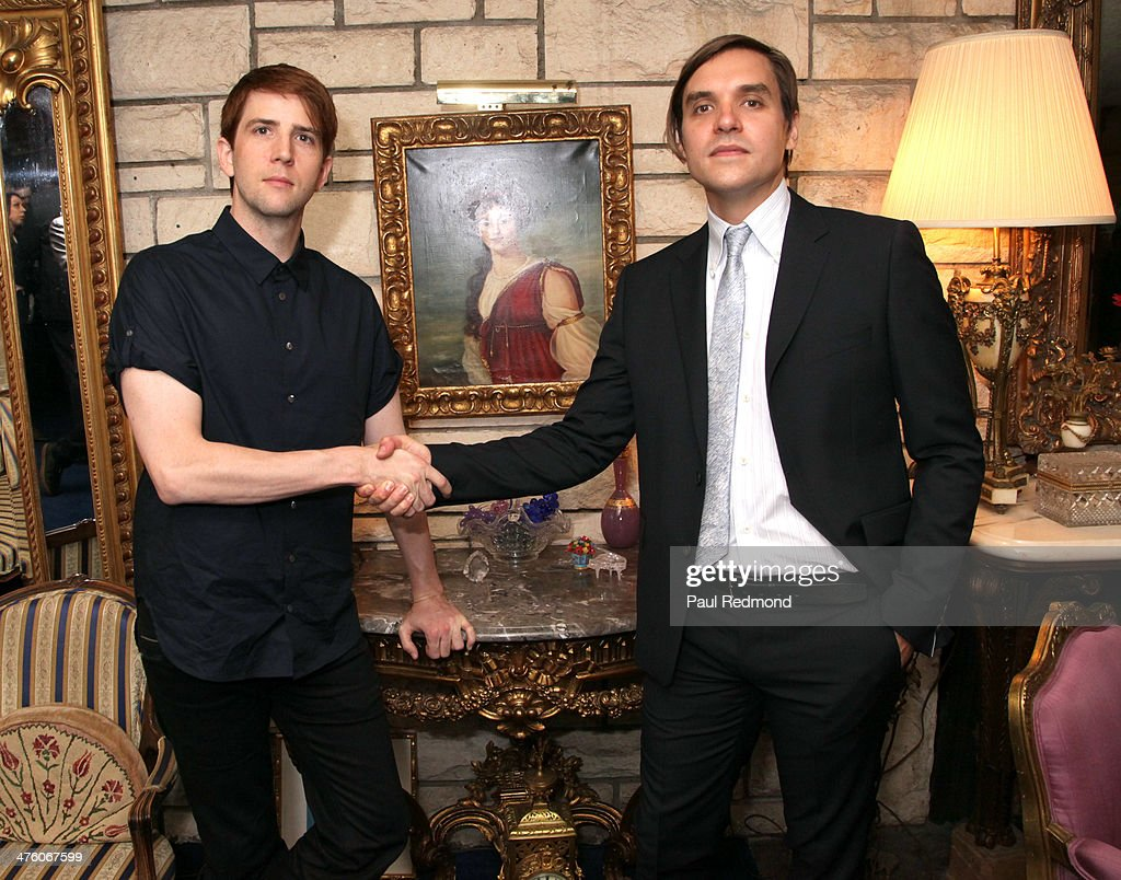 Owen Pallett and William Butler of the band Arcade Fire attend the SCL PreOscar Reception Honoring Academy Awards Music Nominees in Beverly Hills on...