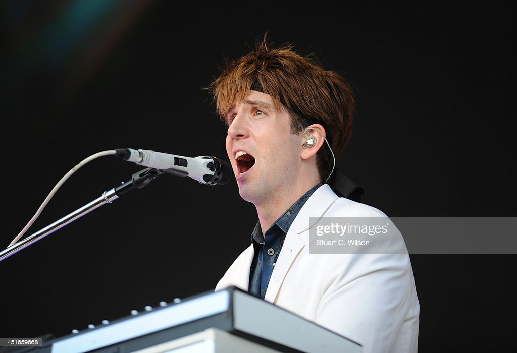 Owen Pallett of Arcade Fire performs on stage at British Summer Time Festival at Hyde Park on July 3 2014 in London United Kingdom