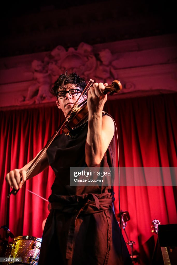 Owen Pallett of The Hidden Cameras performs on stage at Bush Hall on January 29 2014 in London United Kingdom