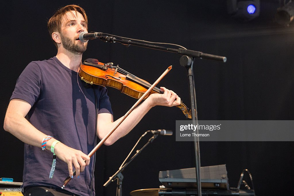 Owen Pallett performs at the Crack Tent on Day 1 of Field Day at Victoria Park on June 6 2015 in London United Kingdom