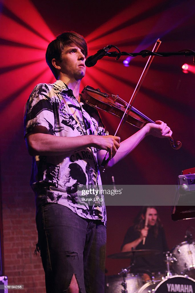 Owen Pallett performs on stage at Village Underground on August 11 2013 in London England