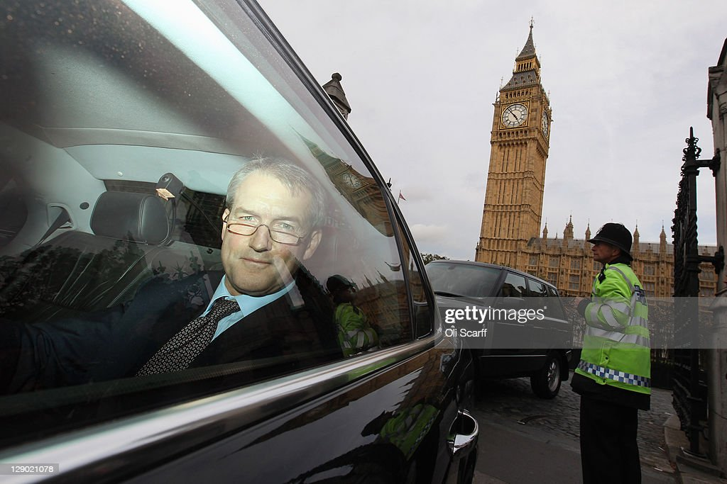 Owen Paterson Secretary of State for Northern Ireland leaves the Houses of Parliament on October 10 2011 in London England Mr Paterson's Cabinet...