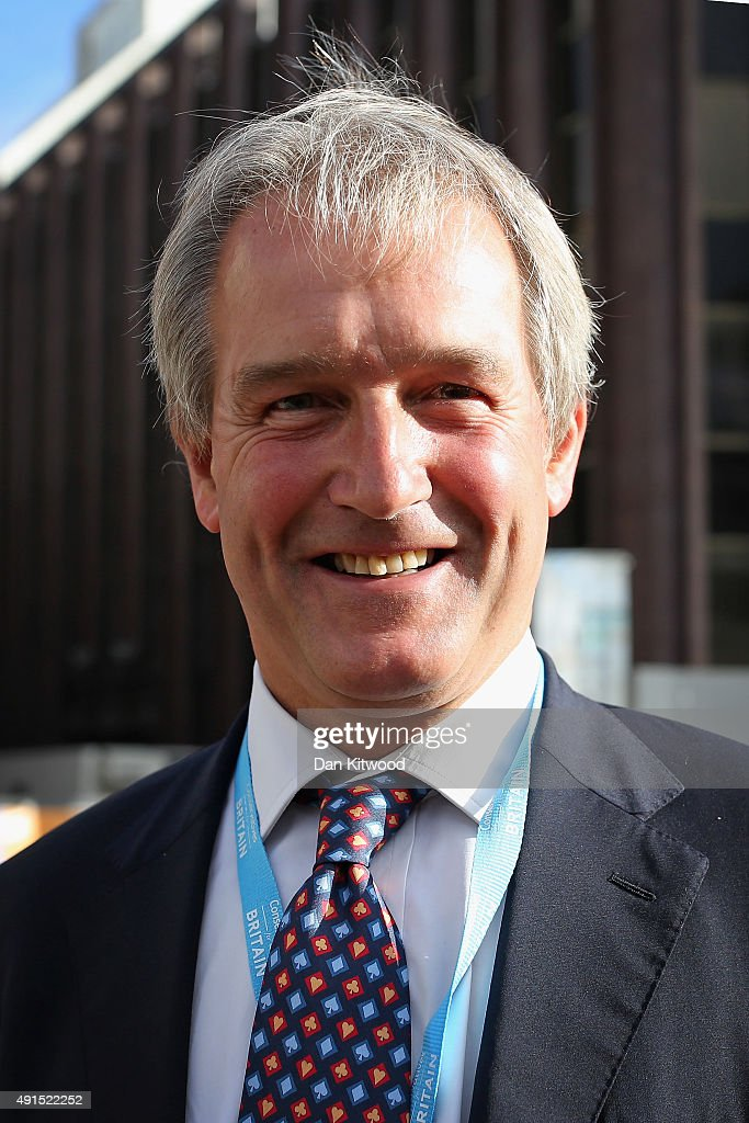 Owen Paterson the Conservative MP for North Shropshire attends conference on the third day of the Conservative party conference on October 6 2015 in...
