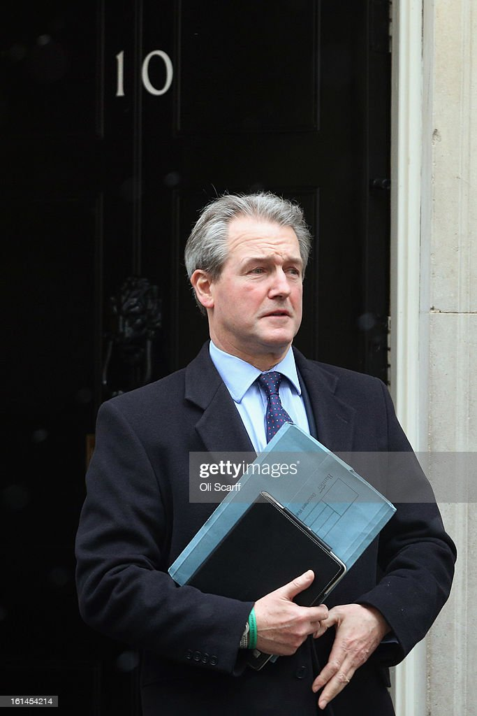 Owen Paterson, the Secretary of State for Environment, Food and Rural Affairs, leaves Number 10 Downing Street on February 11, 2013 in London, England. Mr Paterson has warned that tests which are currently being carried out on processed beef products may indicate further presence of horse DNA.