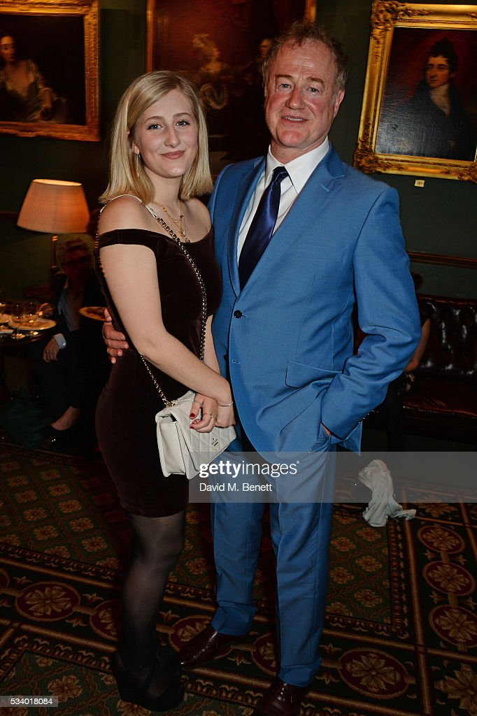 Owen Teale (R) and Eliza Teale attend the press night after party for 'A View From Islington North' at The Garrick Club on May 24, 2016 in London, England.