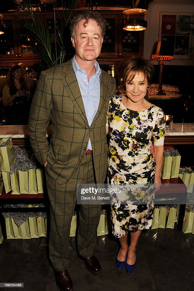 Owen Teale (L) and <a gi-track='captionPersonalityLinkClicked' href=/galleries/search?phrase=Zoe+Wanamaker&family=editorial&specificpeople=224028 ng-click='$event.stopPropagation()'>Zoe Wanamaker</a> attend an after party following the press night performance of 'Passion Play' at The National Gallery on May 7, 2013 in London, England.