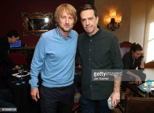 Owen Wilson and Ed Helms pose in the green room during Vulture Festival LA presented by ATT at Hollywood Roosevelt Hotel on November 19 2017 in...