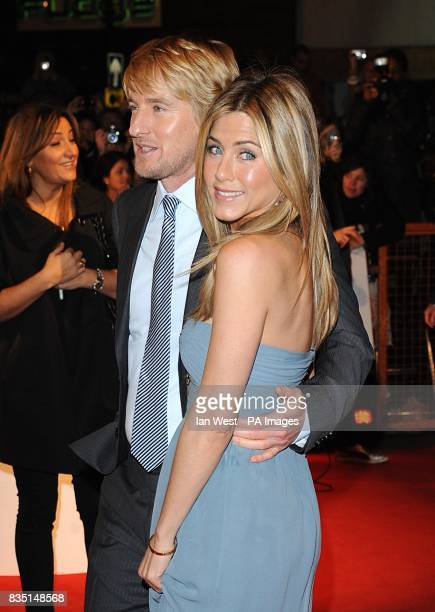 Owen Wilson and Jennifer Aniston arriving for the premiere of Marley And Me at the Vue Leicester Square London