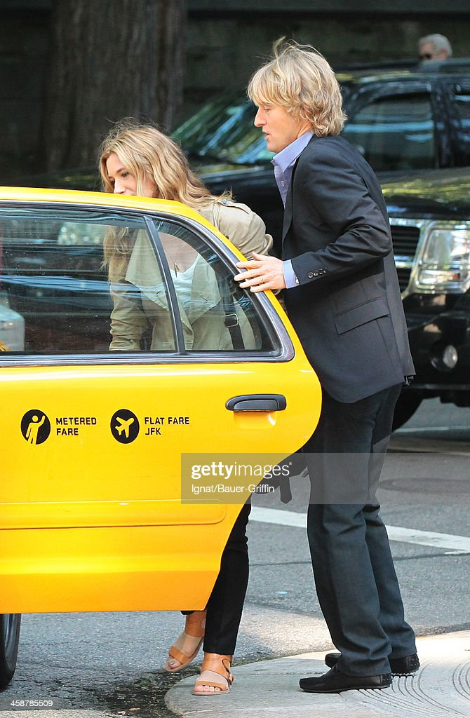 Owen Wilson and Kathryn Hahn are seen filming 'Squirrels to the Nuts' on July 16, 2013 in New York City.