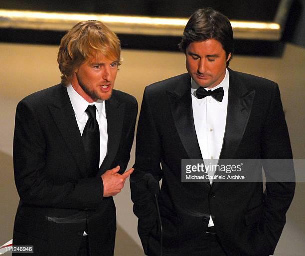 Owen Wilson and Luke Wilson present Oscar for Best Live Action Short Film