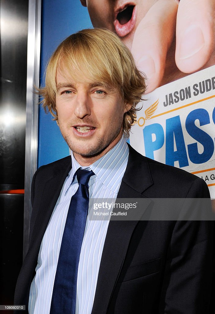 <a gi-track='captionPersonalityLinkClicked' href=/galleries/search?phrase=Owen+Wilson&family=editorial&specificpeople=202027 ng-click='$event.stopPropagation()'>Owen Wilson</a> attends the Los Angeles Premiere of 'Hall Pass' held at ArcLight Cinemas Cinerama Dome on February 23, 2011 in Hollywood, California.