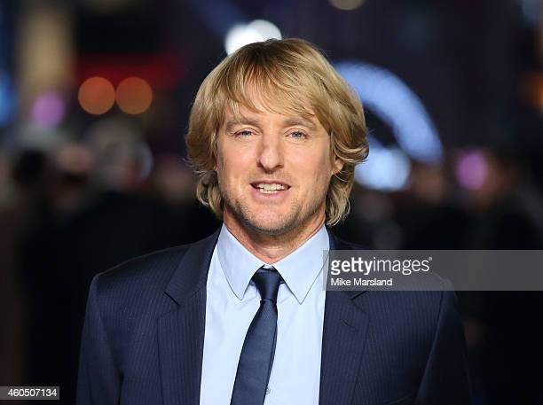 Owen Wilson attends the UK Premiere of 'Night At The Museum Secret Of The Tomb' at Empire Leicester Square on December 15 2014 in London England