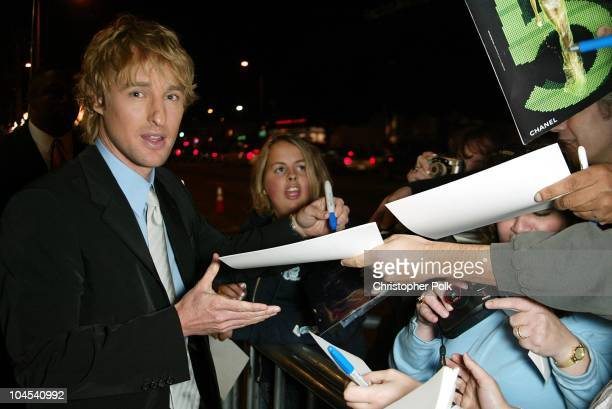 Owen Wilson during 'I Spy' Premiere at Cinerama Dome in Los Angeles CA United States