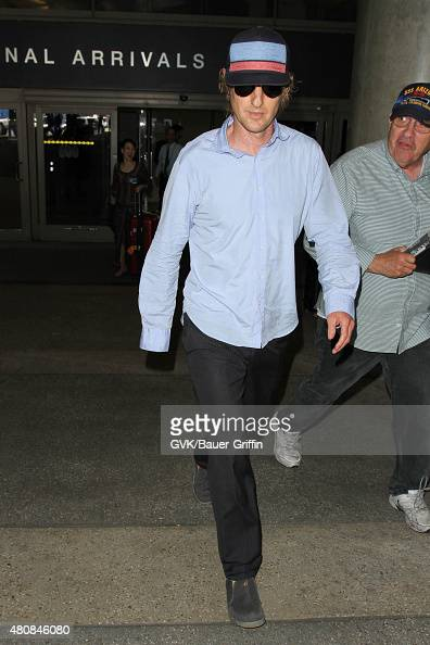 Owen Wilson is seen at LAX on July 15 2015 in Los Angeles California