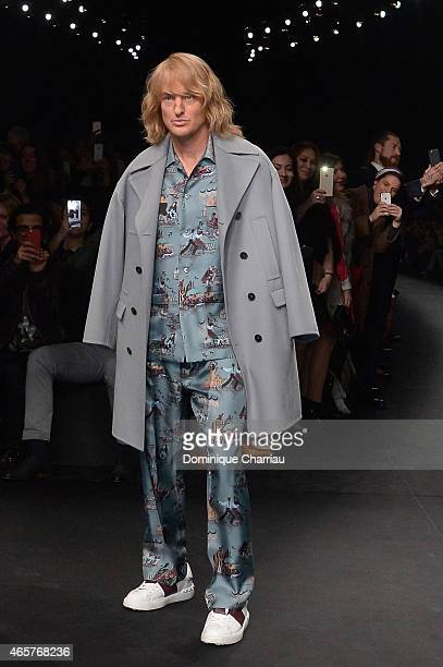 Owen Wilson walks the runway during the Valentino show as part of the Paris Fashion Week Womenswear Fall/Winter 2015/2016 on March 10 2015 in Paris...