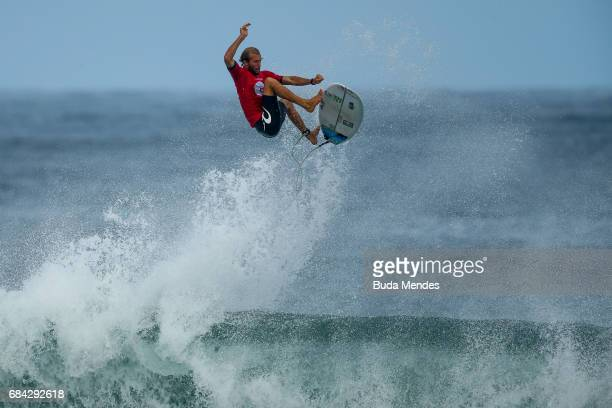 Owen Wright of Australia surfs during the quarterfinals of the Oi Rio Pro 2017 at Itauna Beach on May 17 2017 in Saquarema Brazil
