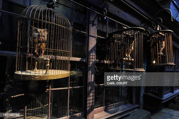 Owl cages are pictured during a preview of the Warner Bros Harry Potter studio tour 'The Making of Harry Potter' in north London on March 26 2012...